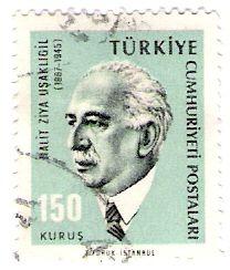 Literature on Stamps: Halit Ziya Usakligil