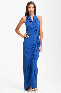 Calvin Klein Full Length Halter Gown   Nordstrom