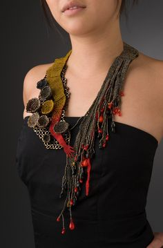 Lovely show-stopper rock-star piece! Teresa Sullivan Beaded Adornment >>>teresasullivanstudio.com