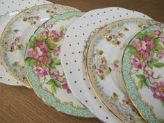 Mix and match colorful, antique china for dinnerware!