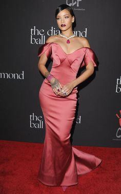 The Best Dressed at Last Night's Diamond Ball Included Rihanna in TWO Zac Posen Dresses: Pantone Color of the Year 2015 Marsala