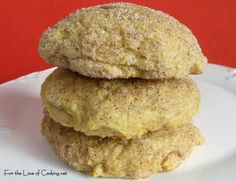 For the Love of Cooking » Pumpkin Snickerdoodle Cookies