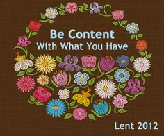 Be Content...