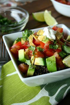 Black Quinoa Taco Salad