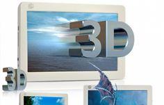 Já inventaram porta-retratos digitais com mil e uma funções diferentes, formatos esquisitos e conexões diversas. O que estava faltando nessa sopa era a febre do momento: o 3D!