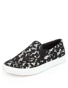 Slip-On Trainers with Insolia Flex®   M&S
