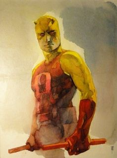 Marvel's Daredevil wore something yellow inside.Is it that suit ...