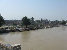Saryu River Bank, Ayodhya, Faizabad, (U.P.), India. - Ayodhya - This river is of ancient significance, finding mentions in the Vedas and the Ramayana. On Ram Navami, the festival that celebrates the birthday of Lord Rama, thousands of people take a dip in the Sarayu River at Ayodhya.