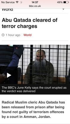 Terrorist released without charge