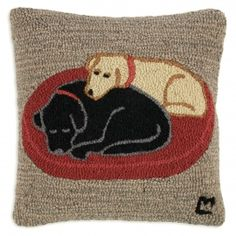"""Jack+&+Jill+On+Dog+Bed+Pillow+18"""" at vermontgear.com"""