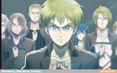 Attack on titan hetalia cross over, love it, but I think Alfred would be eren, and england would be Levi