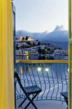 ღღ Symi Island, Greece~~ View From Hotel Nireus Balcony Beautiful Islands, Beautiful World, Beautiful Places, Oh The Places You'll Go, Places To Travel, Places To Visit, Santorini, Myconos, Places In Greece