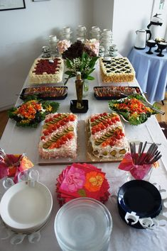 Antipasto, Sandwich Cake, Sandwiches, Finland Food, Sweet Pastries, Takana, Host A Party, Buffet, Bakery