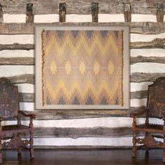 St. Frank's Nam Lai framed textile, handwoven in Laos.