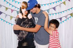 Step Right Up Photo - Atlanta, GA - birthday party photo booth with Justin Beiber cutout!