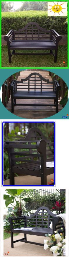 Benches 79678: Outdoor Wood Bench Porch Chair Garden Furniture Patio Deck  Backyard Seat 4Ft New