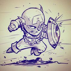 Chibi Cap! by DerekLaufman on DeviantArt - Captain America °°