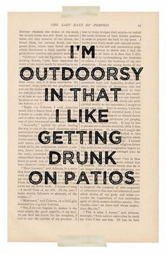 ARE YOU AN OUTDOORSY PERSON TOO?