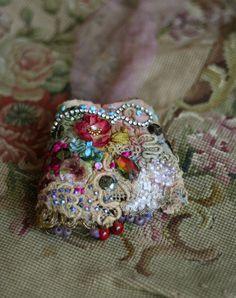 antique rose romantique shabby chic poignet par FleursBoheme