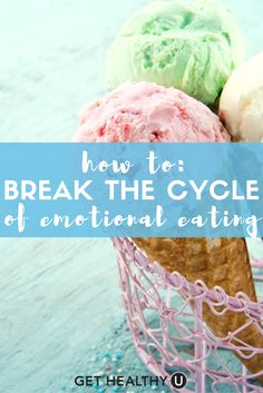 Check out our article on how to break the cycle of emotional eating! Learn how to control urges, why you get them, and what the benefits of shutting them down are!