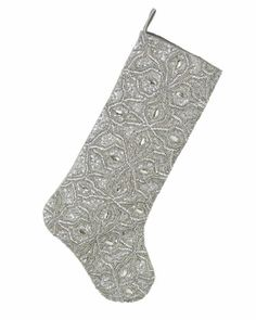 Kim Seybert Silver Bead Christmas Stockings - Neiman Marcus