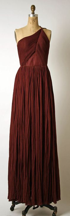 Evening Dress, Evening Gown, Splendid Evening Dress Design, Fashion Designer, Evening Dress Designer, Miracle Gown    Madame Grès (Alix Barton)  (French, Paris 1903–1993 Var region)  Date: late 1960s–mid-1980s Culture: French Medium: silk