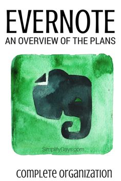 Have you ever been confused by the different plans that Evernote has to offer? Get an overview and learn about some of Evernote best features. // SimplifyDays.com