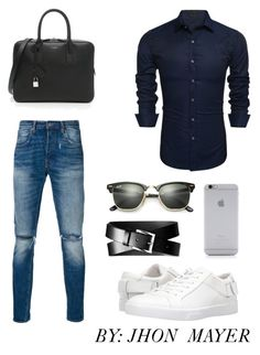 """""""CASUAL"""" by john-mayer-1 on Polyvore featuring Levi's, Yves Saint Laurent, Banana Republic, Ray-Ban, Native Union, Calvin Klein, men's fashion y menswear"""