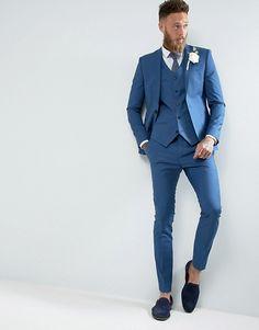 mens wedding suits for sale Mens Summer Wedding Suits, Wedding Guest Suits, Wedding Attire For Women, Blue Suit Wedding, Wedding Dress Men, Smart Casual Jackets, Mens Tailored Suits, Tight Suit, Online Shop Kleidung