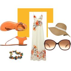 68c5be3533 Costa Sunglasses · Beachcomber · A fashion look from March 2013 featuring  Bernardo 1946 sandals