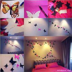 Dekoracje na ścianę - motyle