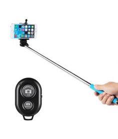 Bay Selfie Stick With Bluetooth Remote