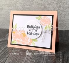 Need Simple Card Ideas? You'll Love the Easy & the Wow #card #Easy #ideas #Love #simple #Wow #Youll Beautiful Birthday Cards, Simple Birthday Cards, Birthday Cards For Women, Handmade Birthday Cards, Diy Birthday, Happy Birthday, Stampin Up Catalog, Card Making Tutorials, Beautiful Handmade Cards