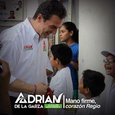 Nuestros niños y jóvenes merecen una mejor educación. Vamos a trabajar con #ManoFirme y con #CorazónRegio por ellos. Saludos. Adrián de la Garza