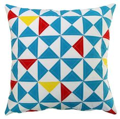 cool simple quilted pillow