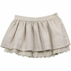 Gold Linen Junior Girls Skirt MAYORAL
