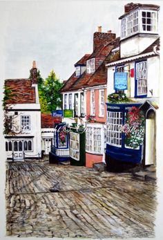 So cool - I saw a thumbnail of this artwork and immediately recognized it's from Lymington. Oh England, how I miss you!!!!!