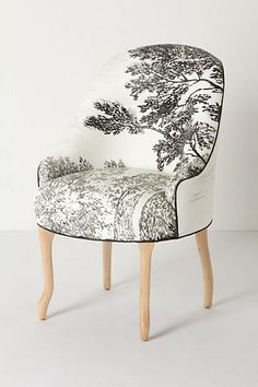 handpainted toile chair from Anthropologie | want !