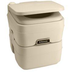Dometic - 965 MSD Portable Toilet 5.0 Gallon Parchment
