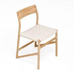 Cubist White Oak Webbing Chair