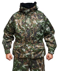 Note the bits of white for snow. Hunting Pants, Camouflage Patterns, Best Insulation, Defence Force, Rain Gear, Tactical Gear, Cold Weather, Parka, Military Jacket