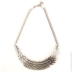 Collier couronne de plumes métal argenté - Bijoux Fantaisie/Colliers courts - Bulle2co