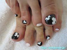 マリー・クワント風フットネイル mary quant style foot nail