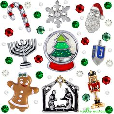 Origami Owl limited edition holiday charms for 2014! Shop now at Www.Monicashae.origamiowl.com