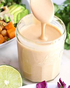 Peanut Sauce EASY Peanut Sauce Recipe- this is SO easy to make and can be enjoyed on buddha bowls, noodles, and as a veggie dip!EASY Peanut Sauce Recipe- this is SO easy to make and can be enjoyed on buddha bowls, noodles, and as a veggie dip! Vegan Sauces, Vegan Recipes, Cooking Recipes, Vegetarian Sauces, Keto Sauces, Healthy Sauces, Blender Recipes, Easy Peanut Sauce, Peanut Sauce Recipes