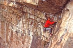 Dick Williams seen here leading Birdcage (5.10b) in 1984. Williams, Steve Arsenault and Wil King established the first ascent of this route in 1971. From the Rock and Snow BLOG