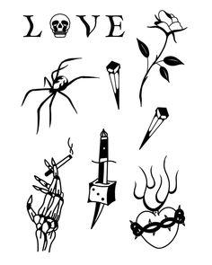 Tattoo Flash Sheet, Tattoo Flash Art, Daniel Tattoo, Weed Tattoo, Blackwork, Piercings, Art Girl, My Drawings, Sleeve Tattoos
