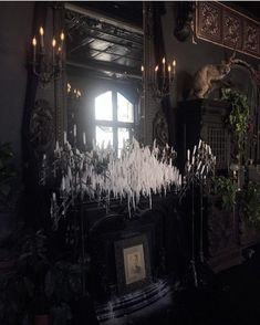 gothic home decor Dangerous Furniture For Witchy Apartment Decorating 37 Dark Home Decor, Goth Home Decor, Home Sweet Hell, Gothic Interior, Interior Design, Gothic Bedroom, Dark House, Gothic House, Victorian Gothic Decor