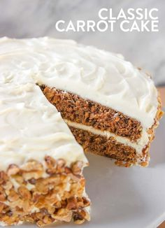 Classic Homemade Carrot Cake Recipe with Cream Cheese Frosting | What's Cooking