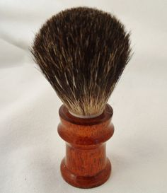 Badger brush in Black Silvertip and by LovgrenandDaughter on Etsy, $60.00